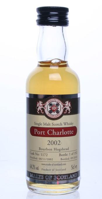 Port Charlotte 2002 - Cask 1172 - Mini