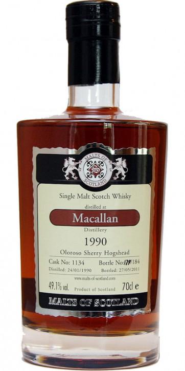 Macallan 1990 Oloroso Sherry Cask Nr 1134