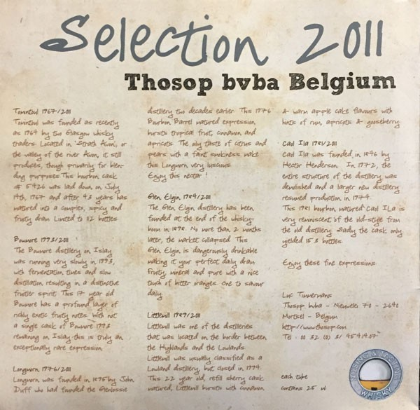 THOSOP Selection 2011- Tasting Box