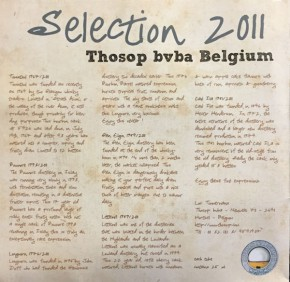 THOSOP Selection 2011- Tasting Box