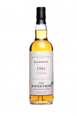 "THE WHISKYMAN - Bladnoch 1991 <br> ""the bonding dram"""